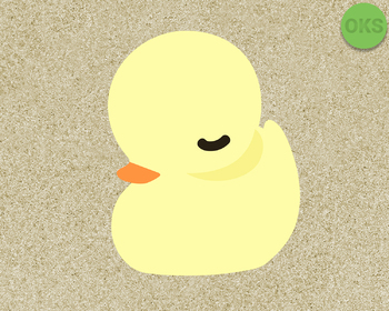 yellow duckling SVG cut files, DXF, vector EPS cutting file instant download