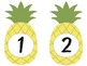 yellow pineapple themed numbers 1-34