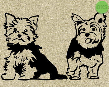 yorkshire terrier SVG cut files, DXF, vector EPS cutting file instant download