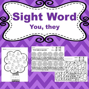 Trick words: you, they