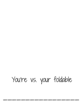 your vs. you're foldable