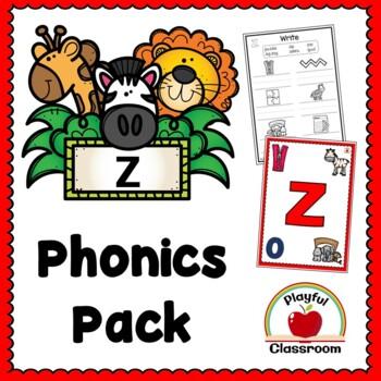 z Phonics Worksheet Pack