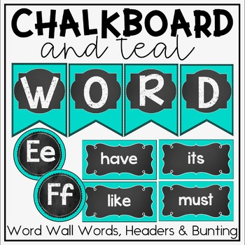 Word Wall {Chalkboard and Teal Classroom Decor Theme}