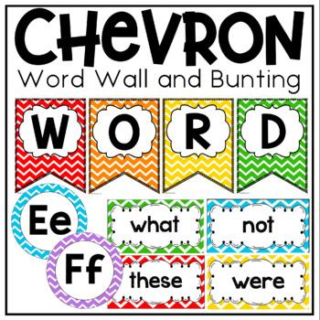 CHEVRON Classroom Decor in Primary Colors