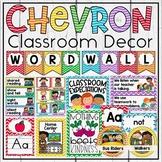 Rainbow Chevron Decor Bundle in Primary Colors