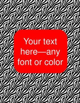 zebra binder covers (editable)--red