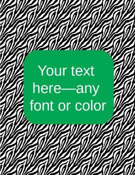 zebra binder covers (editable)--green