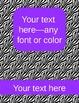 zebra binder covers (editable)--purple