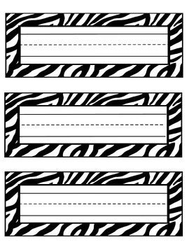 zebra nameplates or labels with lines