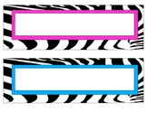 zebra print word strips multi