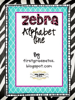 zebra themed alphabet line