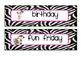 zebra themed editable schedule cards