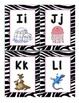 zebra word wall cards