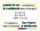 zero property of mult/ propiedad de cero de multi prim 1-way blue/verde