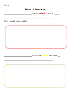 zones worksheet
