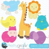 zoo animals clipart commercial use, vector graphics, digital clip art - CL449