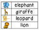 zoo animals word wall