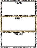 zoo themed read build write