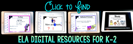 Click to Find Your Go to Spot For K-2 ELA Digital Resources