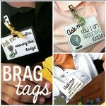Badge Clip Brag Tags