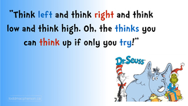 Oh, the thinks you can think!  If you're willing to try...