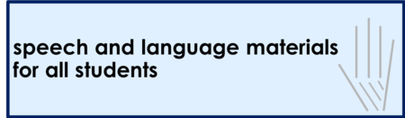 Affordable speech therapy materials for every age!
