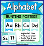 Alphabet Line Bunting Posters