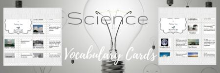 Science Vocabulary Cards!