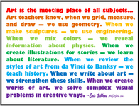 Art is the center of the educational universe!