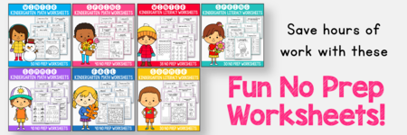 GROWING BUNDLE - Math & Literacy Worksheets for Kindergarten