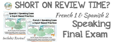 French 1 Speaking Exam