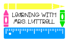 Follow my instagram: Learning with Mrs. Luttrell