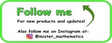 Follow me to stay up to date on all updates and new products!