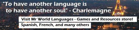 To have another language is to have another soul. Come visit the store!