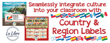 Hispanic and Francophone Country & Region Labels