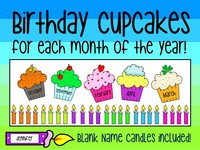 Get your classroom ready with these BIRTHDAY CUPCAKES!