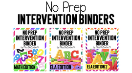 No Prep Intervention Binders