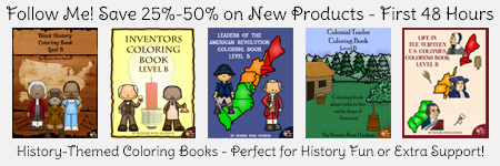 Follow me for 25%-50% off new products including history, science, language arts, and more!