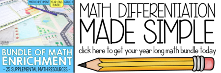 Core Inspiration Year Long Math Enrichment Bundles