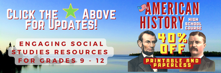 Specializing in paperless and printable products for American History, Canadian History, Canadian Civics and the World Wars.