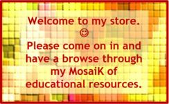 Welcome to my store!