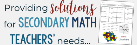 Secondary Math Solutions