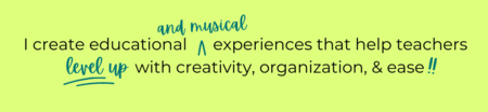 I create educational experiences that help teachers level up with creativity, organization, and ease!