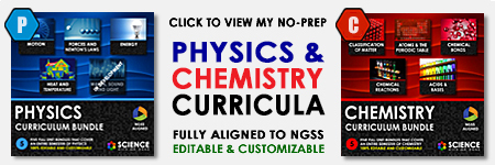 Physics and Chemistry Curriculum Products