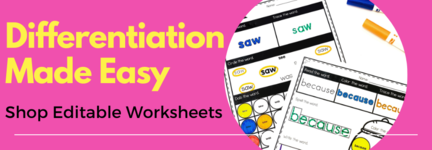 Click here to shop for EDITABLE worksheets!