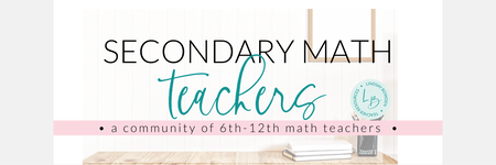 Secondary Math Squad Facebook Group