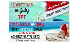 #christmasinjuly21 50% July 25 and 26