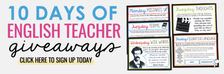 10 Days of English Teacher Giveaways