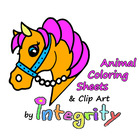 Animal Coloring Sheets and Clip Art by Integrity