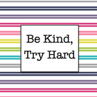 Be Kind Try Hard